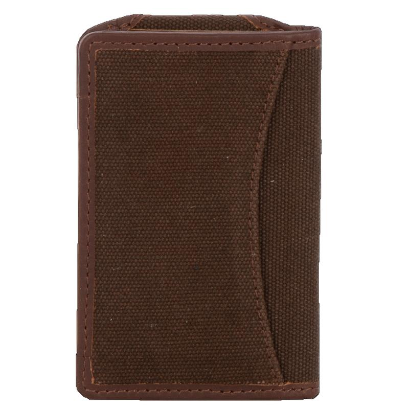 Chocolate Canvas Bifold Wallet