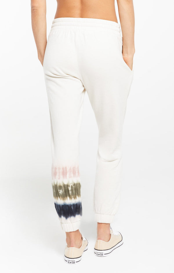 SELENE STRIPE TIE-DYE FLEECE JOGGER