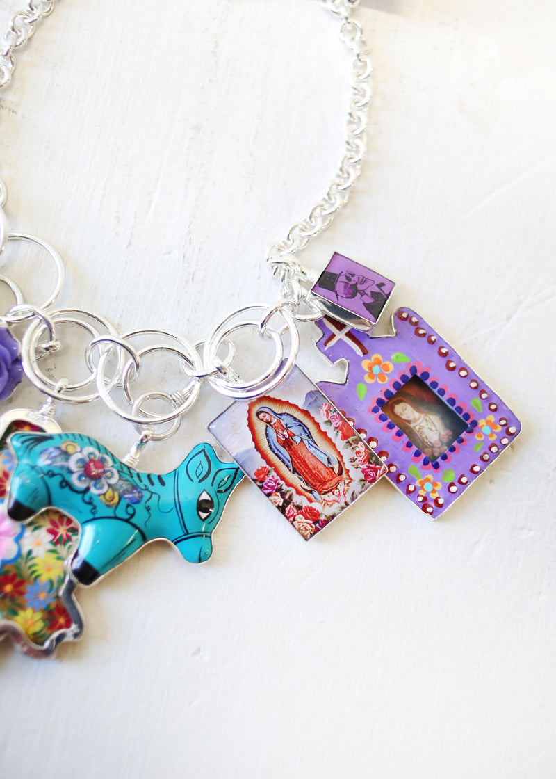 PURPLE MEXICO NECKLACE