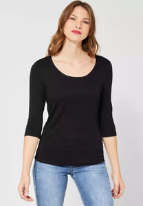 Street One - Basic Shirt Pania Schwarz