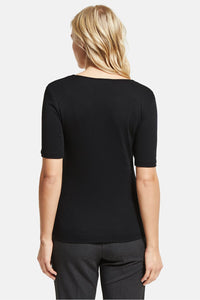 Street One - Basic Shirt Palmira Schwarz