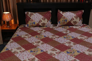 jaipurtader kingsize printed cotton bedsheet with two Pillow Cover