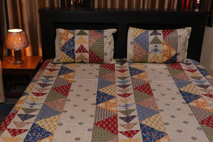Jaipurtader Abstract print cotton bedsheet