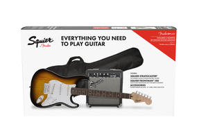 Squier Stratocaster® Pack, Laurel Fingerboard, Brown Sunburst, Gig Bag