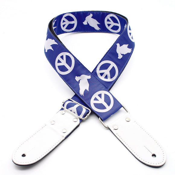 DSL Jacquard Weaving PEACE-BLUE JAC20-PEACE-BLUE Straps