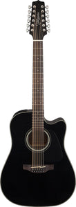 Takamine TGD30CE12BLK 12 String Dreadnought Black