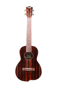 Makai TK-250GX Tenor All Solid Ebony Ukulele w/ Pickup