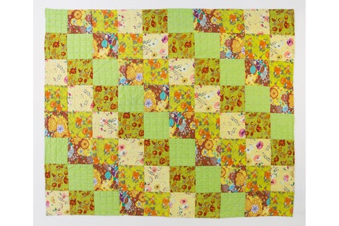 Handstitched Patchwork Quilt | Lemon Verbena