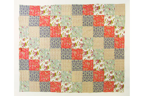 Handstitched Patchwork Quilt | English Rose