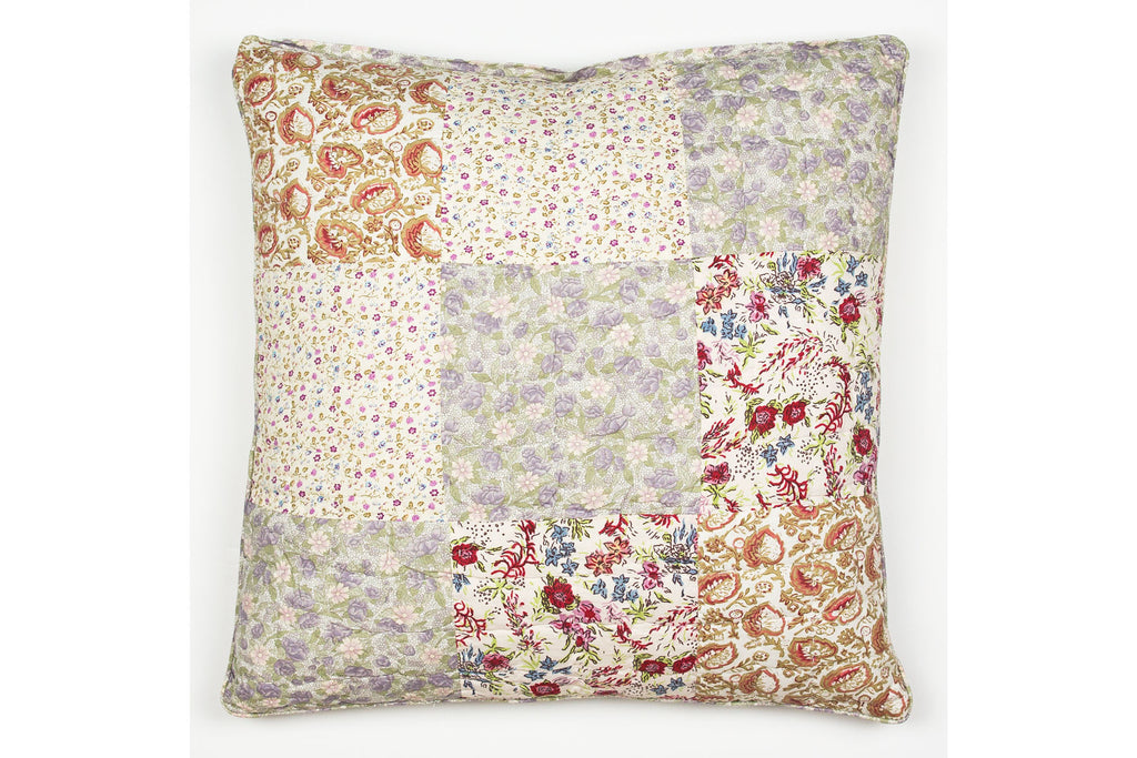 Handstitchd Patchwork Cushion | Jasmine Tea