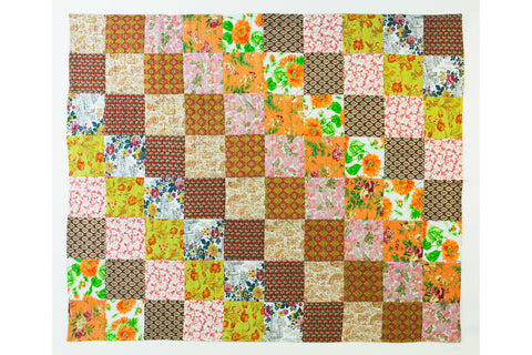 Handstitched Patchwork Quilt | Indian Marigolds