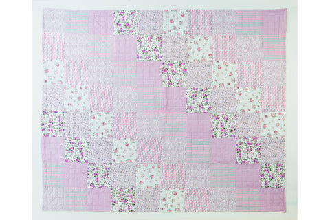 Handstitched Patchwork Quilt | Sweet Pea