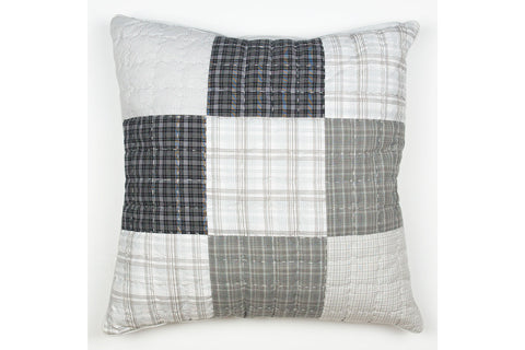 Handstitched Patchwork Cushion | Earl Grey