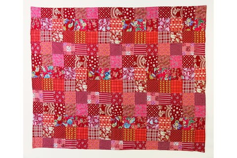 Handstitched Patchwork Quilt | Red Fruits