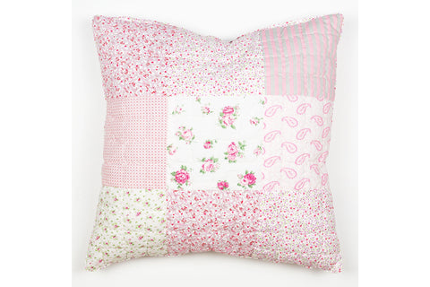 Handstitched Patchwork Cushion | Sweet Pea