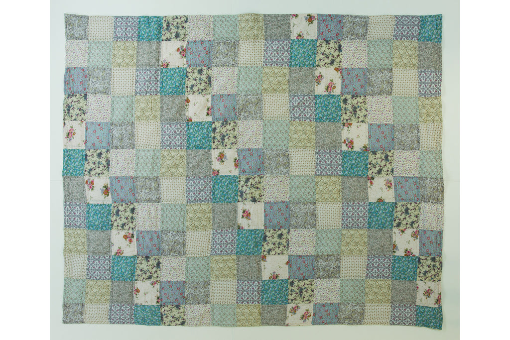 Handstitched Patchwork Quilt | Sea Blossom
