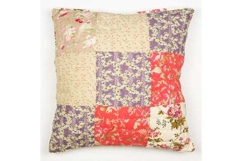 Handstitchd Patchwork Cushion | English Rose