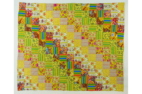 Handstitched Patchwork Quilt | Lemon Bon Bon