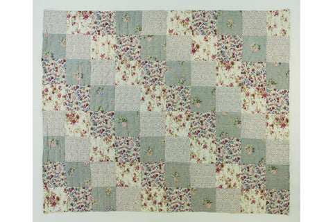 Handstitched Patchwork Quilt | Jasmine Tea