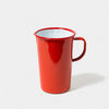 Enamel 2 Pint Jug in Pillarbox Red
