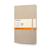 Moleskine Ruled Notebook in Beige Khaki Soft Cover