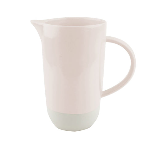 Pale Pink Two Tone Porcelain Jug