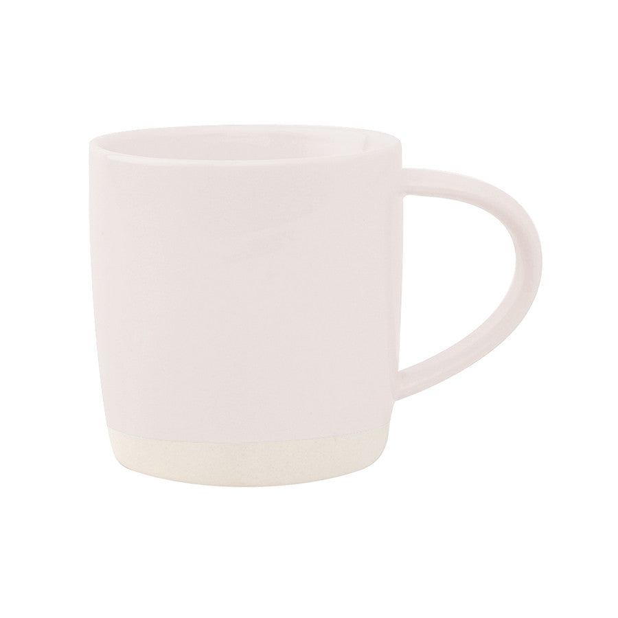 Pale Pink Two Tone Porcelain Mug