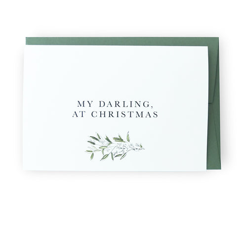 My Darling, At Christmas Greeting Card