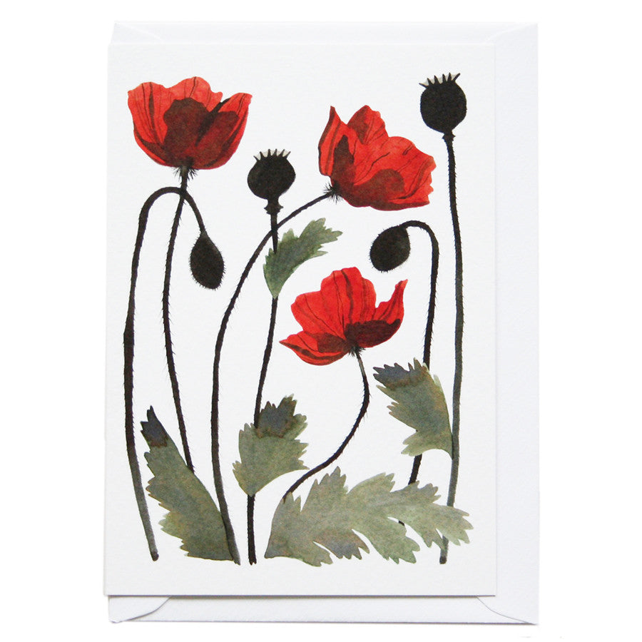 Poppies Greeting Card by Eleanor Percival