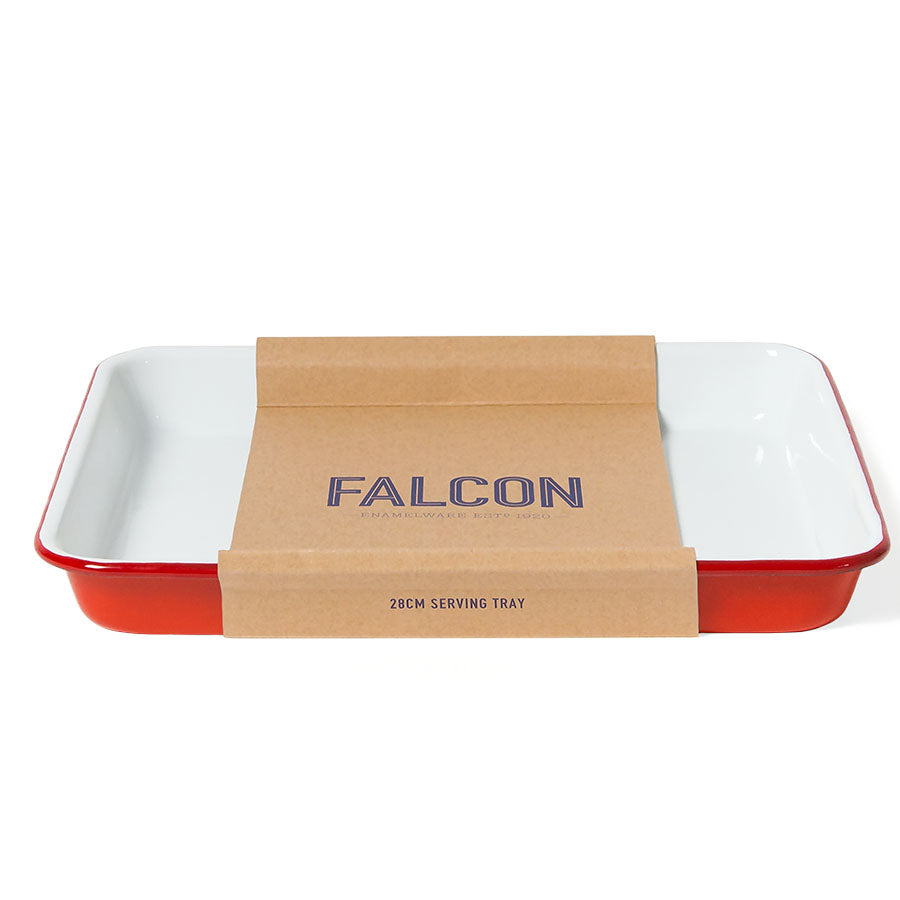 Enamel Serving Tray in Pillarbox Red