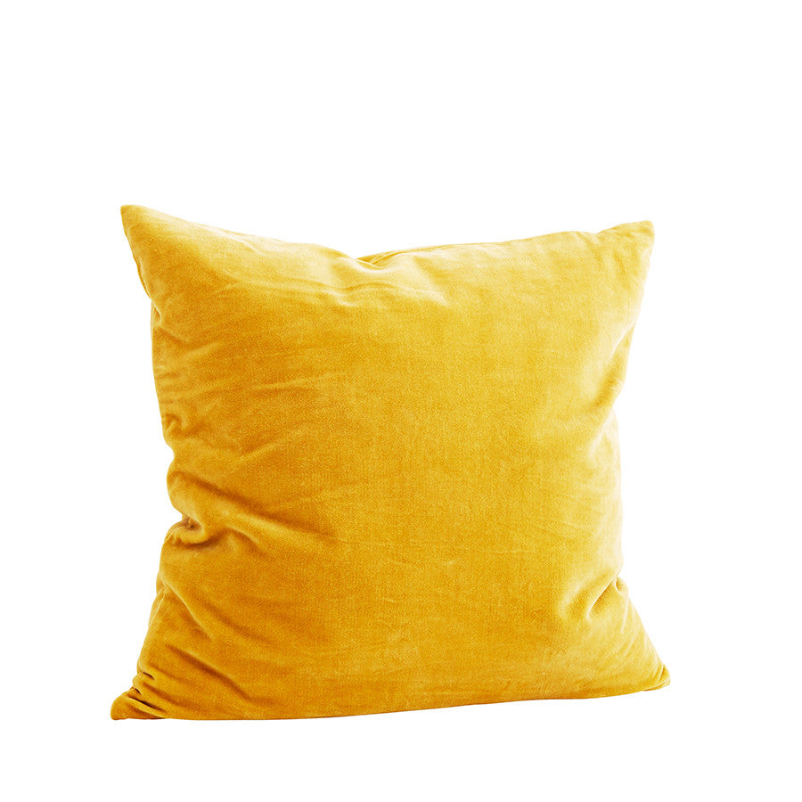 Velvet Cushion in Yellow