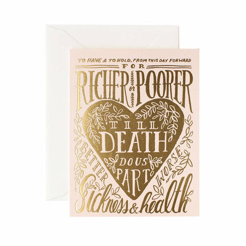 Till Death Do Us Part Greeting Card