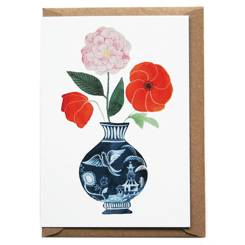 Vase Greeting Card by Eleanor Percival