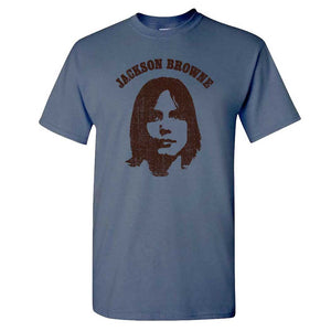 "Jackson Browne ""Saturate Before Using"" T-Shirt - Denim"