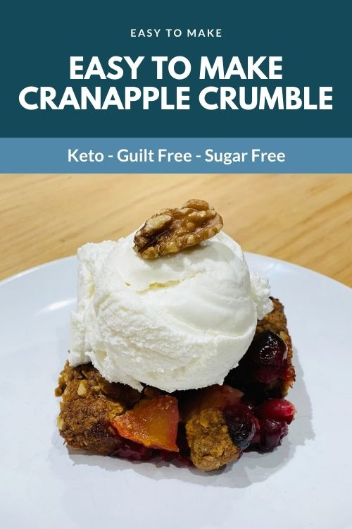 Easy to make CranApple Crumble
