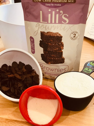 Keto Brownie Icecream Ingredients