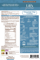 Lili's Gourmix Chocolate Chip Cookies Low Carb Premium Mix, Easy to Make  9.5 oz - 270 g