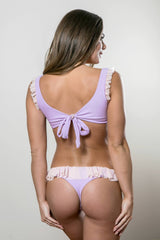 Ballet Ruffle Thong Set - Orchid and Blush