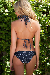 Black Braided Strappy Bird Bikini