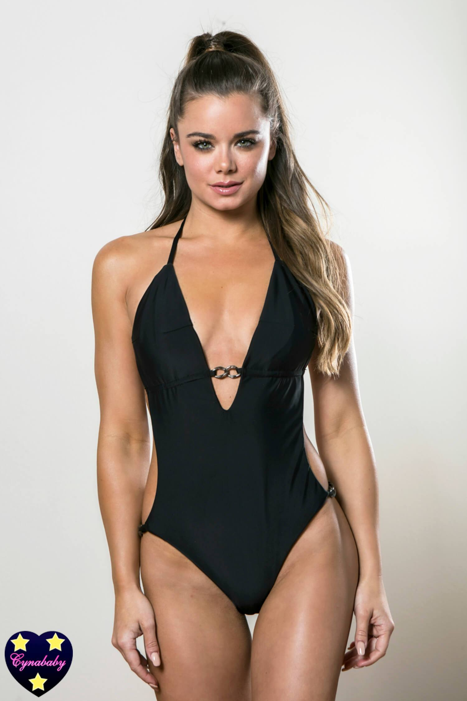 Custom One-Piece Monokini Swimsuit - Black Gunmetal Chain