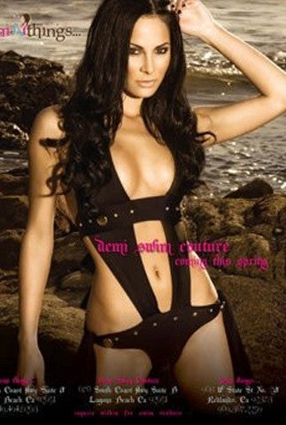 One Kiss Designer Custom Monokini - Black
