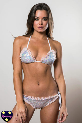 Sequin Bikini - Irridescent and Blush Bridal Swimsuit Set