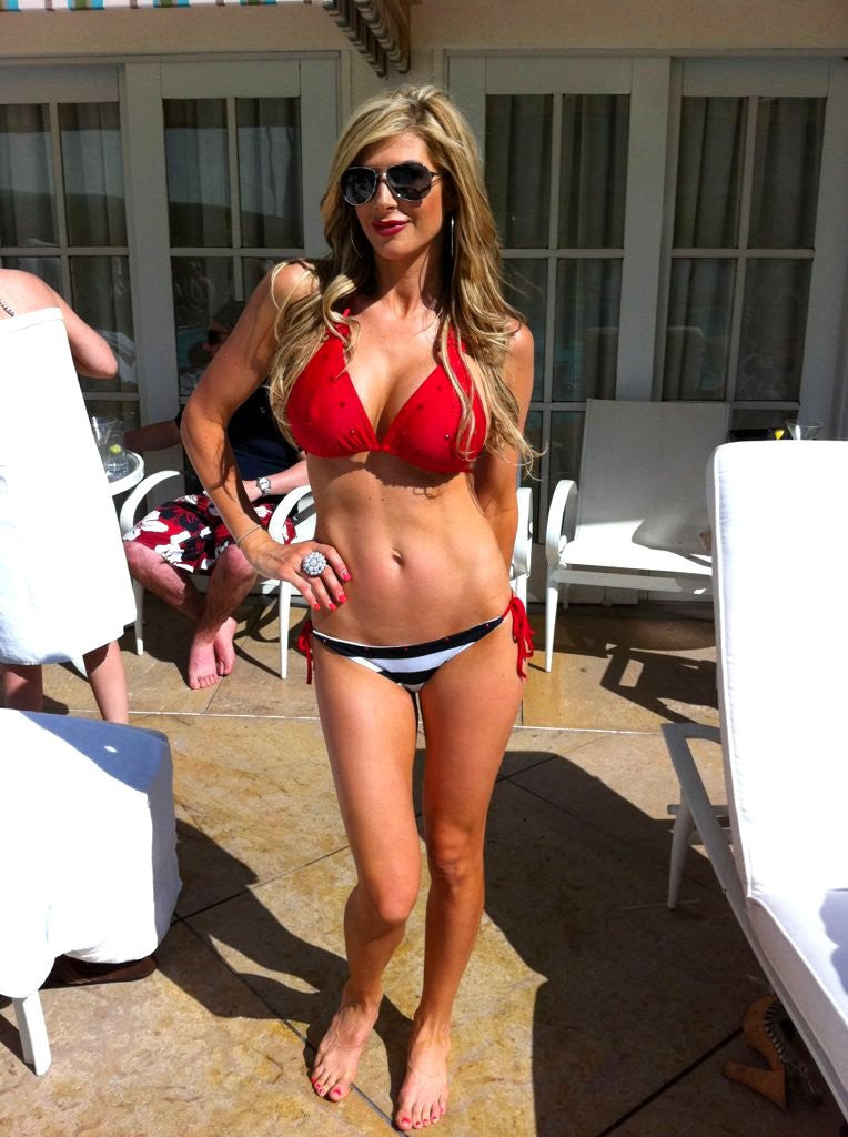Sugar Baby Red Nautical Bikini (Seen on OC Housewife Alexis Bellino)