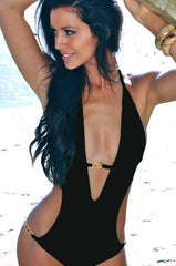 Miami One-Piece Swimsuit - Black Custom Monokini