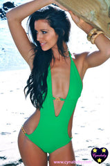 Miami One-Piece Swimsuit - Kelly Green Monokini