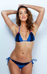 Paradise Denim Navy Lace Bikini