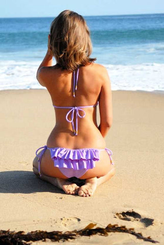 Ruffled Booty Purple Lilac Bikini
