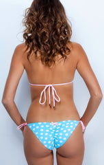 As seen on Housewives of OC Swarovski Triangle Swimsuit Set - Leopard Neon Pink