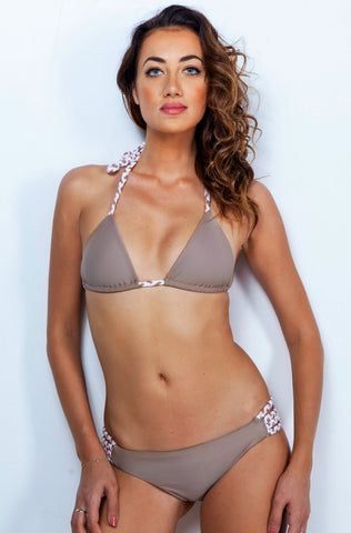 Taupe Natural Braided Bikini