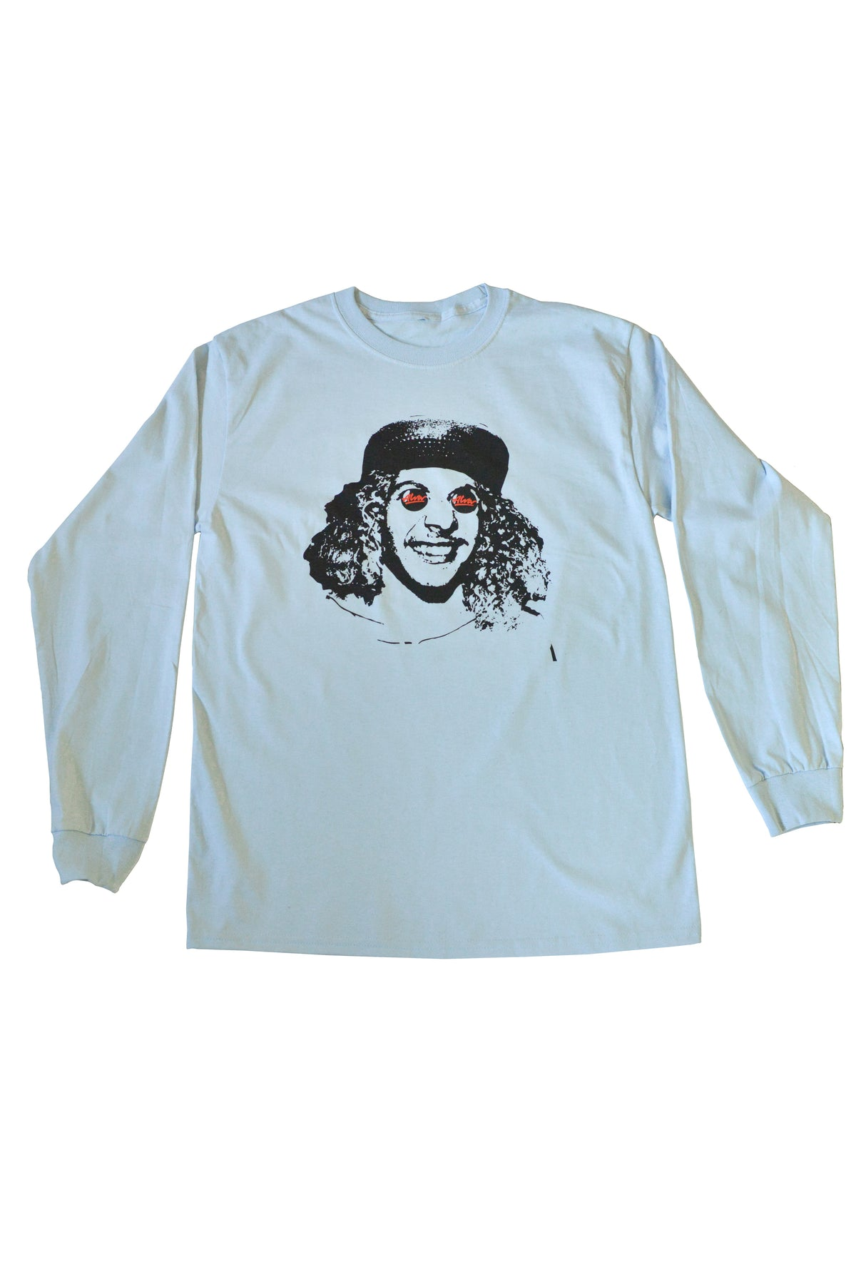 ALVA BUTTON EYES LONG SLEEVE - BLUE